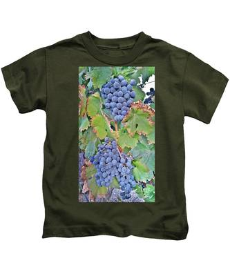 Kids T-Shirt featuring the photograph Grapes  by Bridgette Gomes