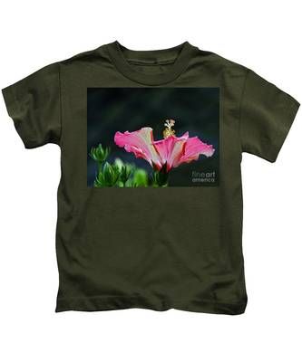 High Speed Hibiscus Flower Kids T-Shirt