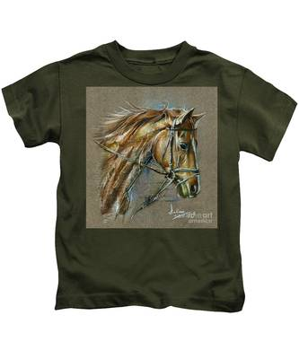 My Horse Face Drawing Kids T-Shirt