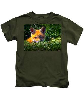 Little Red Fox Kids T-Shirt