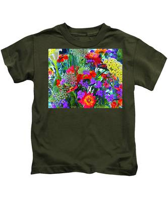 Mid August Bouquet Kids T-Shirt