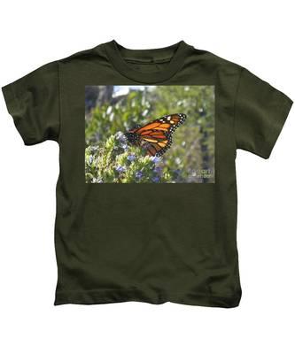 Kids T-Shirt featuring the photograph Monarch  by Bridgette Gomes