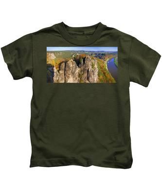 Panoramic Views Of Neurathen Castle Kids T-Shirt