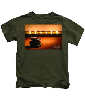 Stone Cairn And Candles For Quiet Meditation Kids T-Shirt