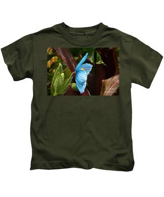 The Colors Of The Himalayan Blue Poppy Kids T-Shirt