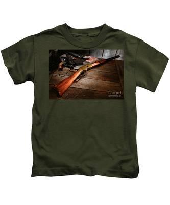 Waiting For The Gunfight Kids T-Shirt