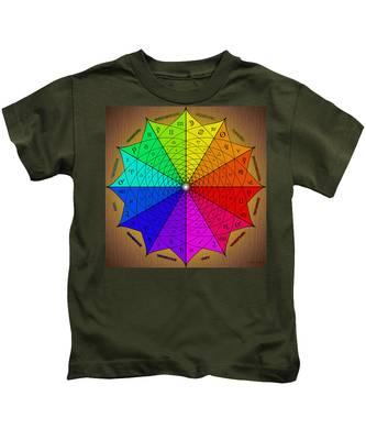 Kids T-Shirt featuring the digital art Zodiac Color Star by Derek Gedney