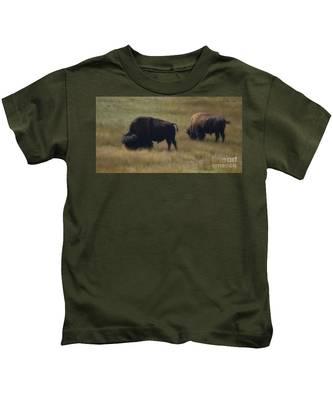 Wyoming Buffalo Kids T-Shirt
