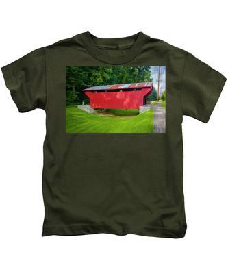 Feedwire Covered Bridge - Carillon Park Dayton Ohio Kids T-Shirt