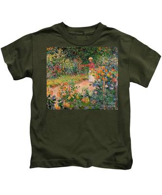 Garden At Giverny Kids T-Shirt