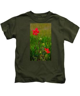 Texas Star Hibiscus Kids T-Shirt