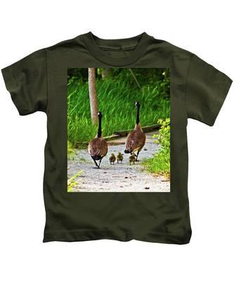 A Family Stroll Kids T-Shirt
