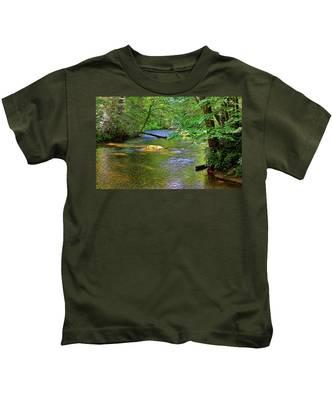 Along The Cullasaja River Kids T-Shirt