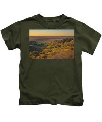 Autumn View At Waubonsie State Park Kids T-Shirt