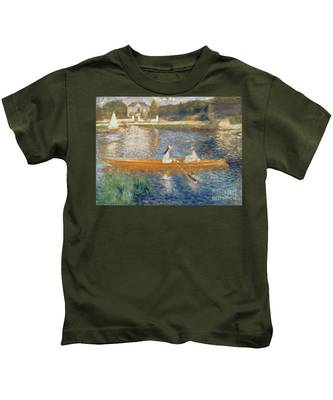Boating On The Seine Kids T-Shirt