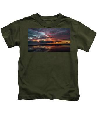Bold Sunrise Delray Beach Florida Kids T-Shirt