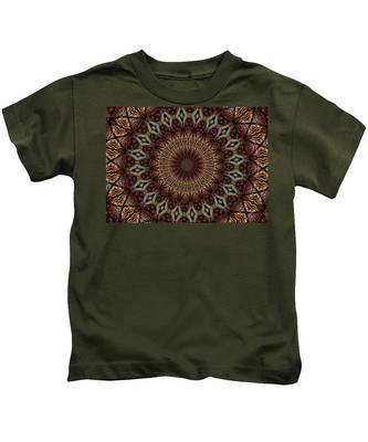 Butterfly Bush Mandala Kids T-Shirt