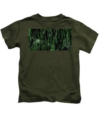 Digital Dragonfly Kids T-Shirt