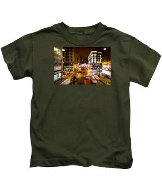 Downtown In The Itty-bitty City Kids T-Shirt