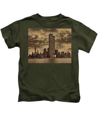 Downtown Manhattan Circa Nineteen Seventy Nine  Kids T-Shirt