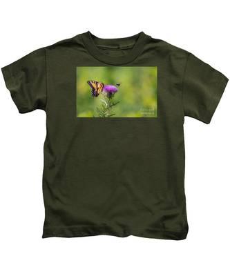 Eastern Tiger Swallowtail Kids T-Shirt