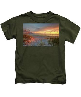 Evening At The Beach Kids T-Shirt