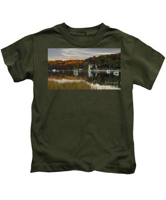 Fall Sunset In Centerport  Kids T-Shirt
