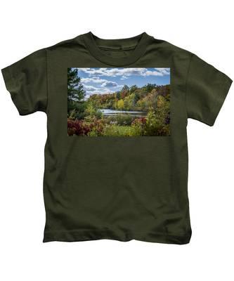 Fall Time On The Lake Kids T-Shirt