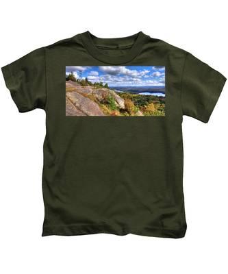 Fire Tower On Bald Mountain Kids T-Shirt