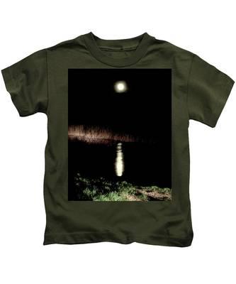 Full Moon Over Piermont Creek Kids T-Shirt