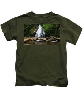 Gentle Waterfall North Georgia Mountains Kids T-Shirt