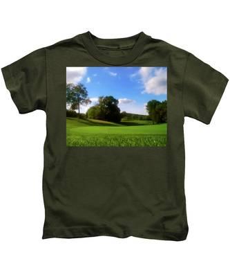 Golf Course Landscape Kids T-Shirt