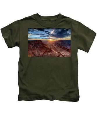 Grand Canyon Sunburst Kids T-Shirt