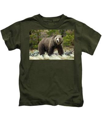 Grizzly Bear Kids T-Shirt