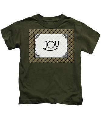 Joy - Art Deco Kids T-Shirt