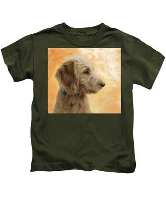 Labradoodle Puppy Kids T-Shirt