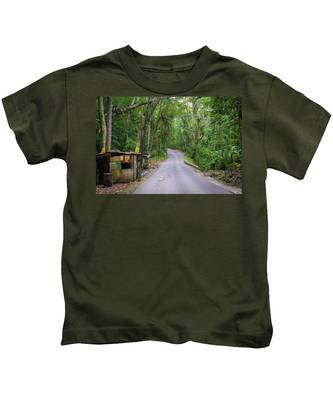 Lonely Country Road Kids T-Shirt