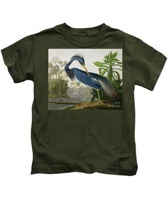 Louisiana Heron Kids T-Shirt