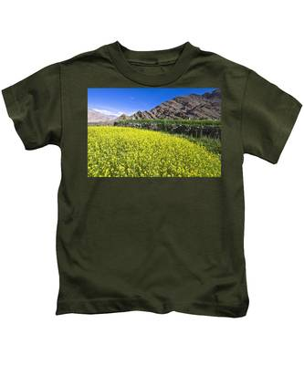 Mustard Field, Hemis, 2007 Kids T-Shirt