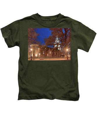 Night Lights St Anne's In The Circle Kids T-Shirt