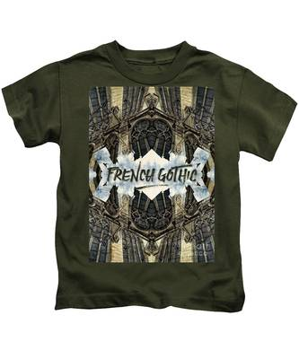 Notre-dame Cathedral French Gothic Architecture Paris France Kids T-Shirt