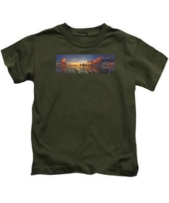 Orange Panorama Kids T-Shirt