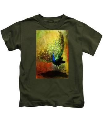 Peacock In Full Color Kids T-Shirt