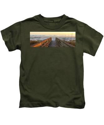 Ponce De Leon Inlet Beach Path Kids T-Shirt