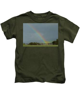 Rainbow On Valhalla Dr. Kids T-Shirt