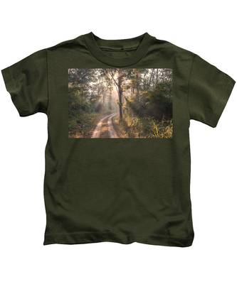 Rays Through Jungle Kids T-Shirt