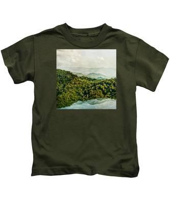 Smoky Mountain Reflections Kids T-Shirt
