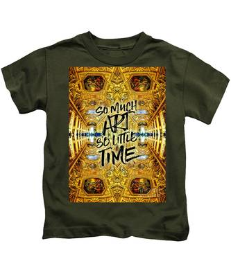 So Much Art So Little Time Apollo Gallery Louvre Paris Kids T-Shirt