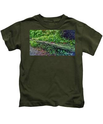 Stone Wall At Laurelwood Kids T-Shirt