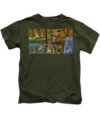 Sunset At Community Park In Montville, New Jersey Kids T-Shirt